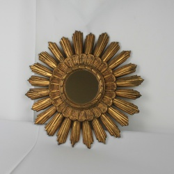 French 1950's sunburst mirror