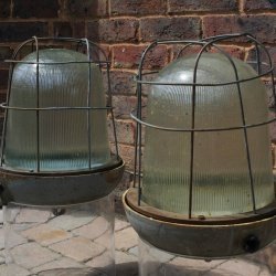 Industrial ceiling lights prismatic glass