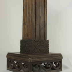 Wood and iron 1920's French table /sculpture base