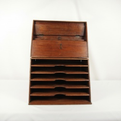 French antique oak stationary cabinet
