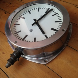 Large superb industrial cast aluminium clock