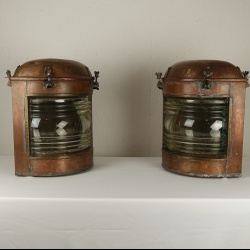 Large copper ship lanterns