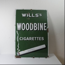 Woodbine cigarettes enamel sign