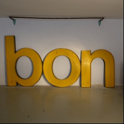 Huge advertising metal letters