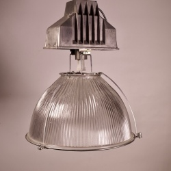 large industrial Holophane lights