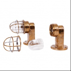 Bronze streamline wall lights, industrial