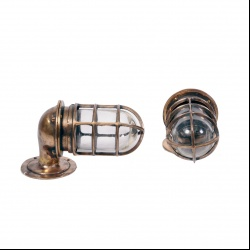 Oceanic bronze ship wall lights