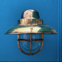Old ship bronze wall light