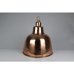 Coppered brass ceiling light