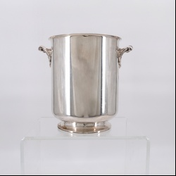 Gallia Christofle silver plate champagne bucket Ormesson