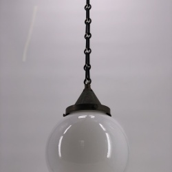 French ceiling light art deco opaline copper chain gallery