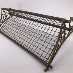 Old train luggage rack from Australia brass copper