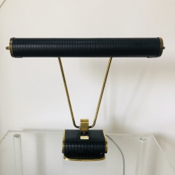 Lamp black and gold made by Jumo France